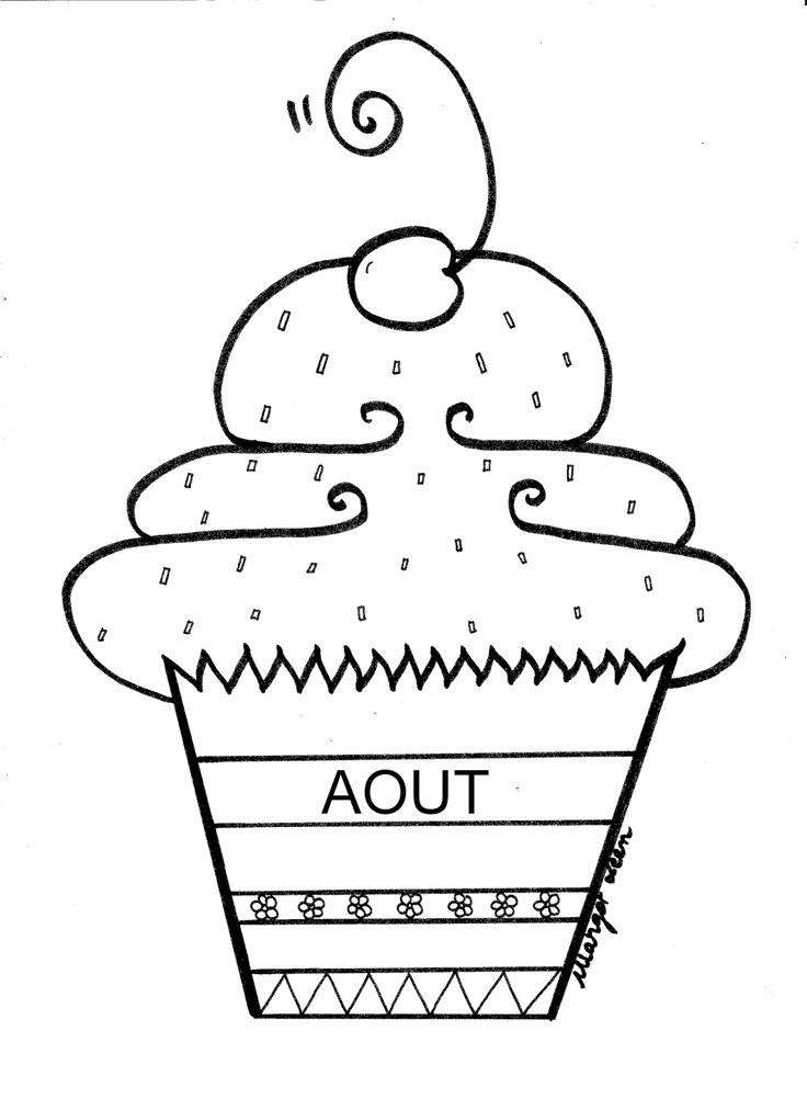 Margot Leen: Farandole des 12 cupcakes des mois de l'année...En majuscule (attention aux accents, il faut les ajouter)