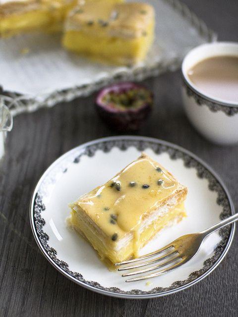 Vanilla Passionfruit Slice from 'Spicy Icecream' Blog.