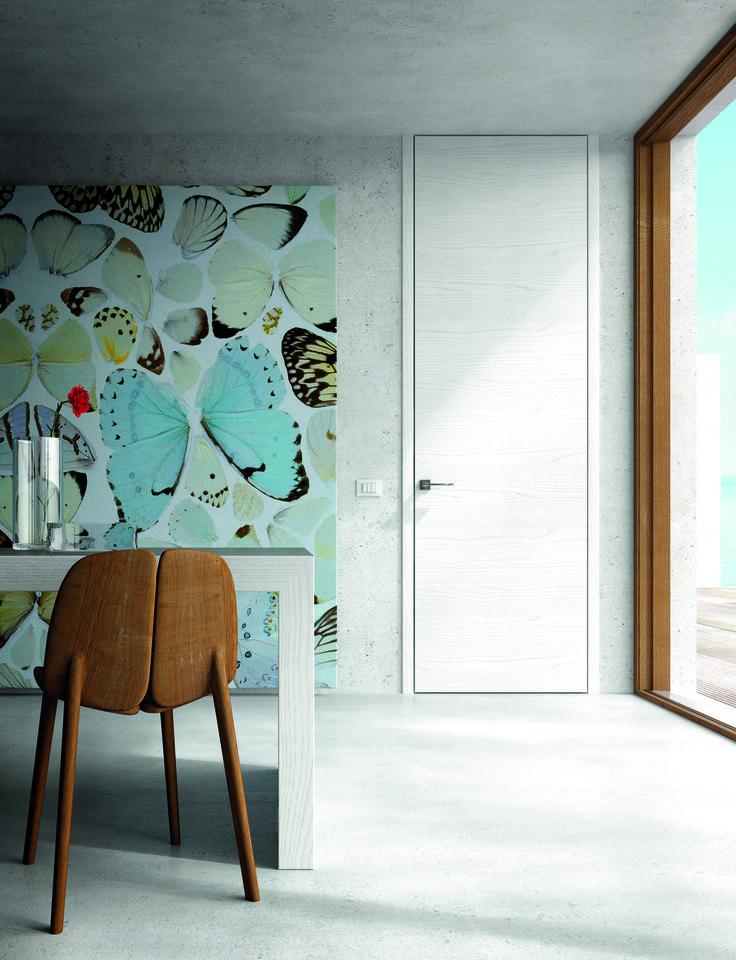 Высокий дизайн.  Высокие двери под потолок Sofia Skyline. Автор - Garcia Cumini Associati. #двери #паркет