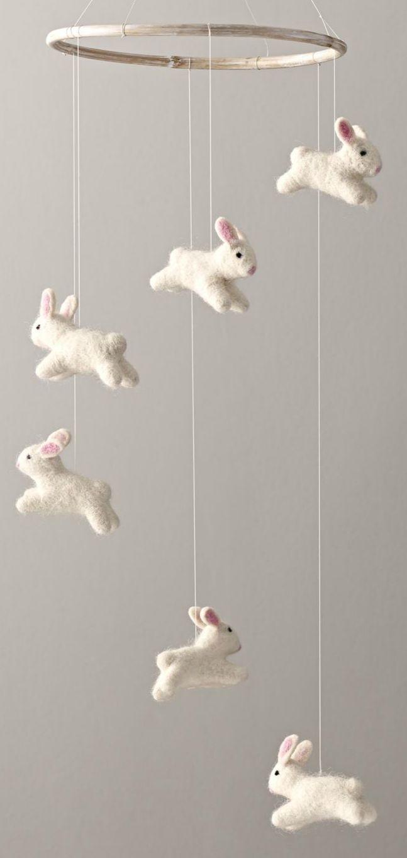 Wool Felt Bunny Mobile