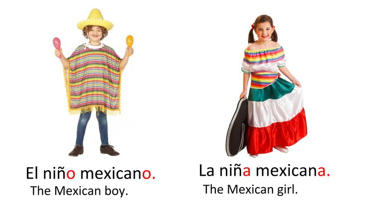 Nationalities in Spanish Mexican girl, Learn a new skill