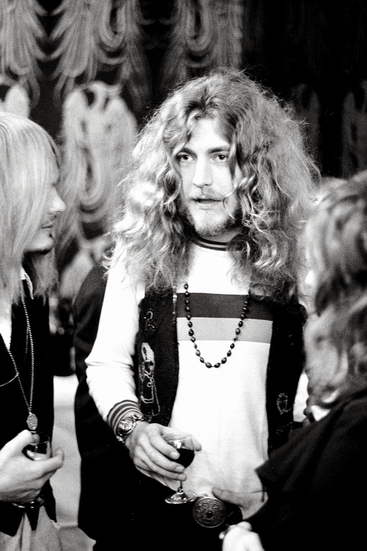 Robert Plant at the Disc and Music Echo Awards in London in 1971