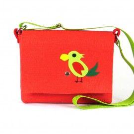 Czerwona torebka dla dziewczynki/ Red parrot - Handbag for girls