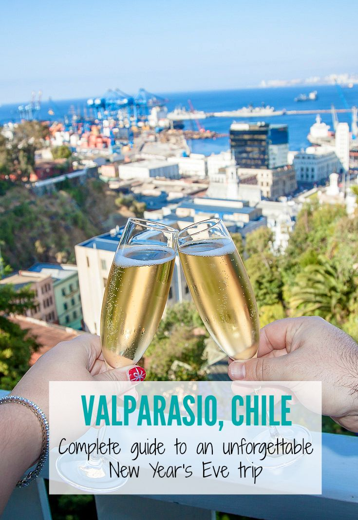 Looking for options of #NewYearsEvetravel? Don't miss spending New Year's in #Valparaiso, #Chile to experience the massive #firework display across the harbor! | #Chiletravel, #NYE, #travelNYE