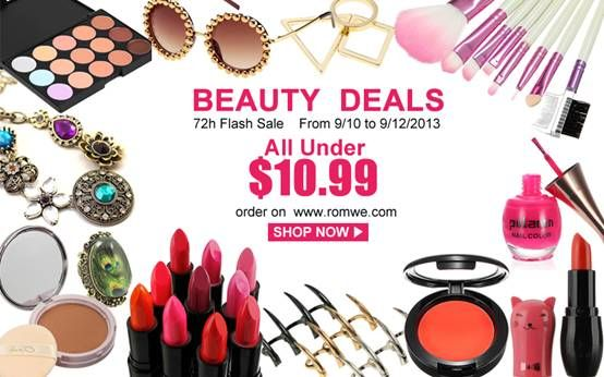 As a girl, is it possible to live without makeup & cute accessories? Just fetch these hotties at their cheapest time :P > http://www.romwe.com/manage_activity/Beauty-Deals/?wn Only 72 hours!!