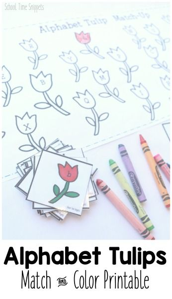 Practice uppercase and lowercase letters with your preschooler with this adorable spring matching printable!
