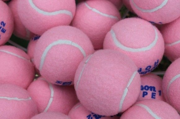 Pink Tennis Balls: Pink Tennis, Breast Cancer, Things Pink, Birthday Parties, Tennis Anyone?, Pink Ball, Pink Pink, Tennis Ball, Plays Tennis