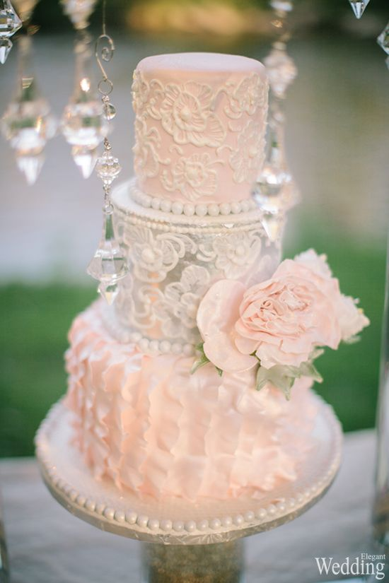 Wedding Cake Peach Color Flower Photography Tiffany Smith Dan Spe
