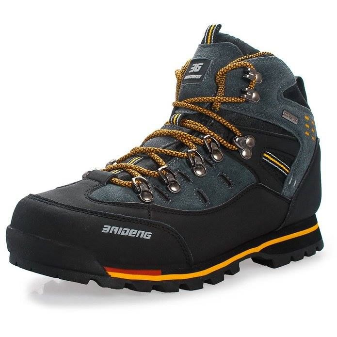 GOMNEAR High Top Men Hiking Shoes Waterproof leather Shoes Climbing &  Fishing Shoes New popular Outdoor shoes Tekking Boots