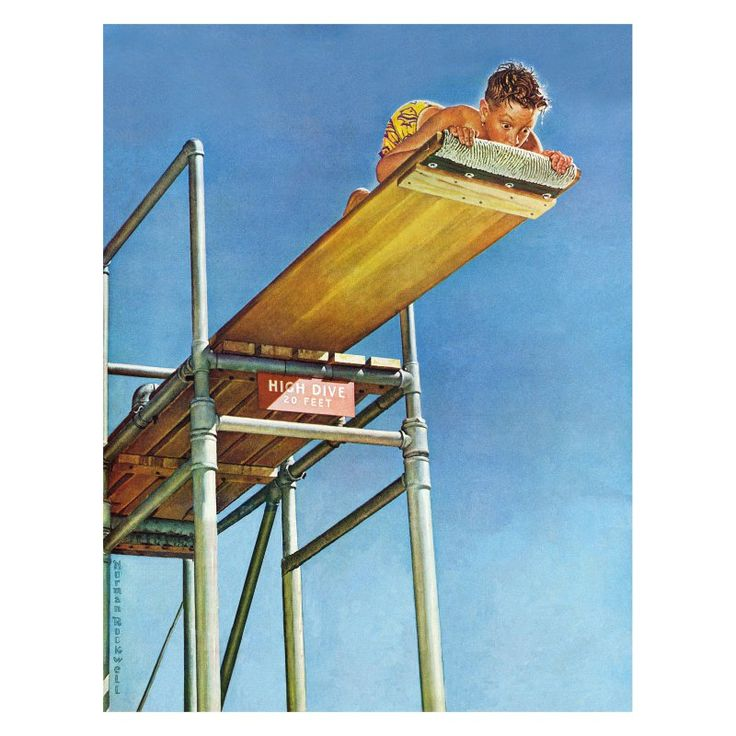 Marmont Hill Boy on High Dive Wall Art - MH-RCK-T80-9470816-C-31