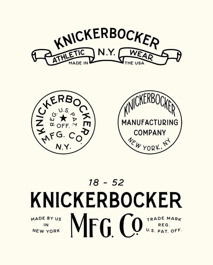 """655 Likes, 11 Comments - Joshua Minnich (@joshuaminnich) on Instagram: """"Portions of the branding, stamps, buttons and packaging I created for @knickerbockermfgco. Some of…"""""""