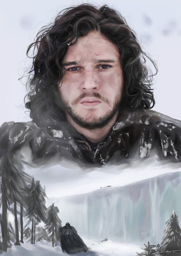 Jon Snow by ElleDrawsAndStuff