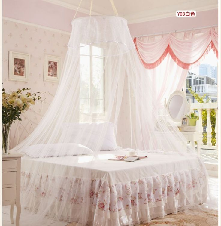 Princess Outdoor Hang Dome Mosquito Nets Round Lace Insect Bed Canopy Netting