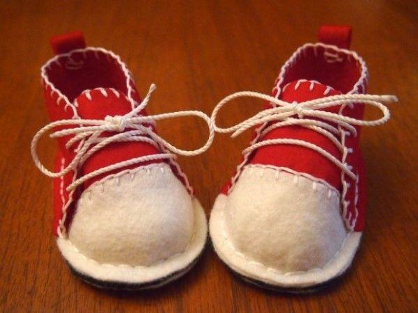 DIY / urob si sama nápad a návod na handmade - ručne vyrobené plstené topánočky pre deti... Topánočky z plste, ako, šitie, plsť, ručné práce, postup