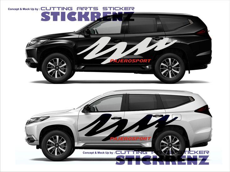 Car Custom Side Cutting Sticker Concept - Pajero 007