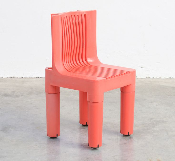 Rare Plastic Child's Chair by Marco Zanuso for Kartell