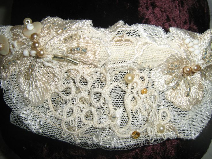 embroidered head piece