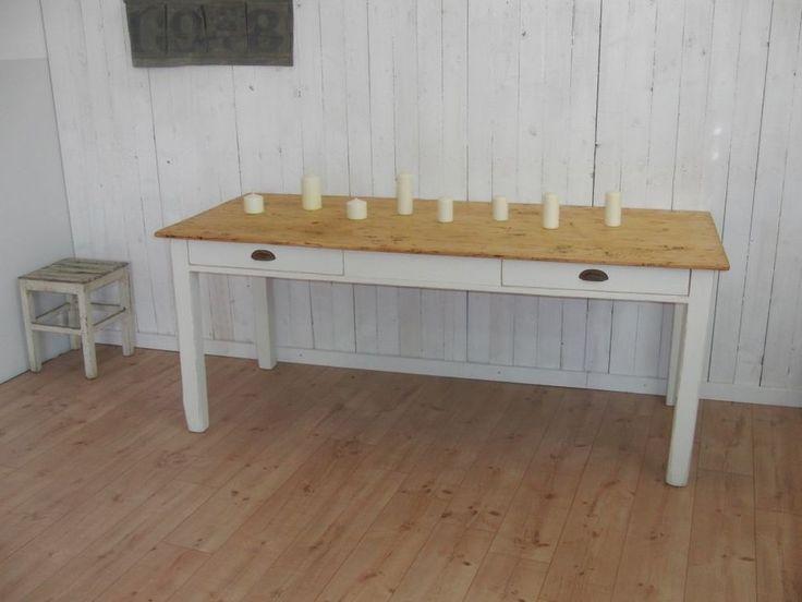 ... antiker Esstisch Bauerntisch Gesindetisch Ladeneinrichtung Tafel Tisch