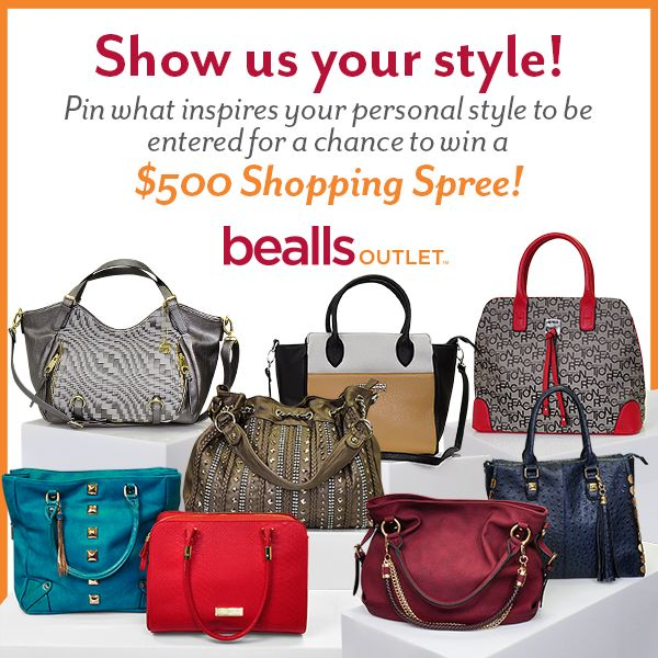 """To enter the Bealls Outlet contest: 1) Follow @BeallsOutlet on Pinterest. 2) Create a board titled """"Bealls Outlet - My Style Contest"""". 3) Add at least six (6) pins that showcase your fabulous personal style with inspiration from our boards or upload your own to your """"Bealls Outlet - My Style Contest"""" board. 4) COMMENT WITH A LINK TO YOUR BOARD BELOW. #BeallsOutlet #MyStyleContest"""