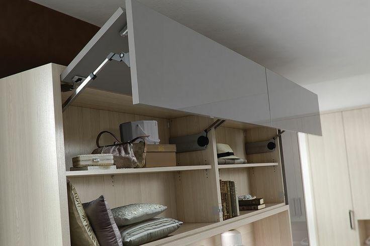 Como bi-folding wall units with blum servo-drive, a premium electric opening and closing mechanism http://www.daval-furniture.co.uk/como/