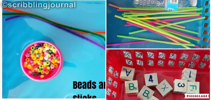 I am back with my Toddler Activities series. Things used for play: chenille sticks & beads Bottle & Straws Blocks Chenille sticks & Beads: Bottle, straws & Blocks:  'Sh…