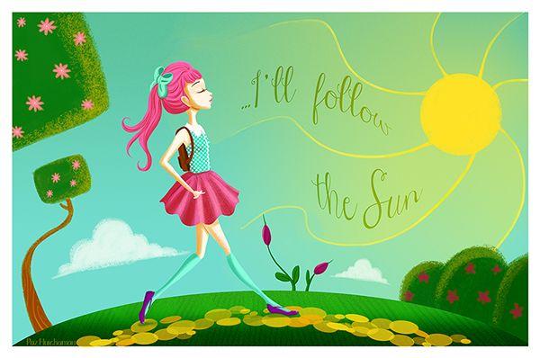 Follow the sun by Paz HuichamaN, via Behance