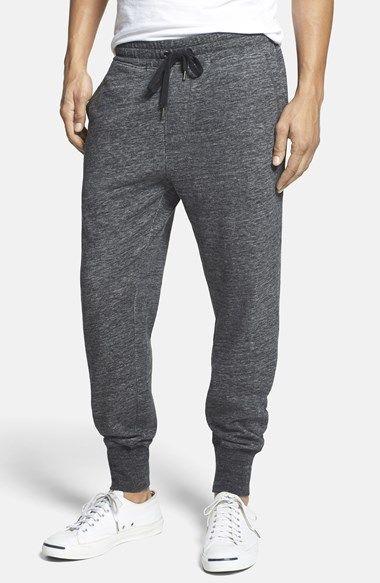 //Heathered Knit Jogger Sweatpants