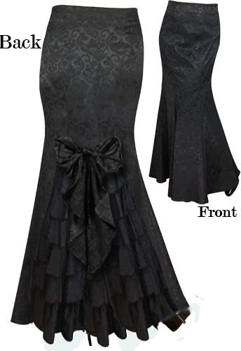 Victorian Waterfall Ruffle Bustle Skirt by Amber Middaugh -Save 37% at Chicstar.com Coupon: AMBER37