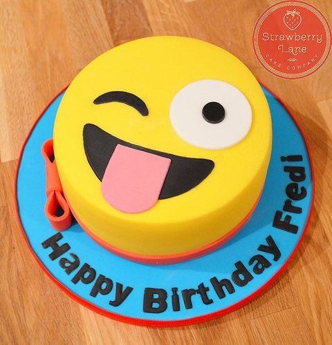 Emoji birthday cake | Flickr - Photo Sharing!
