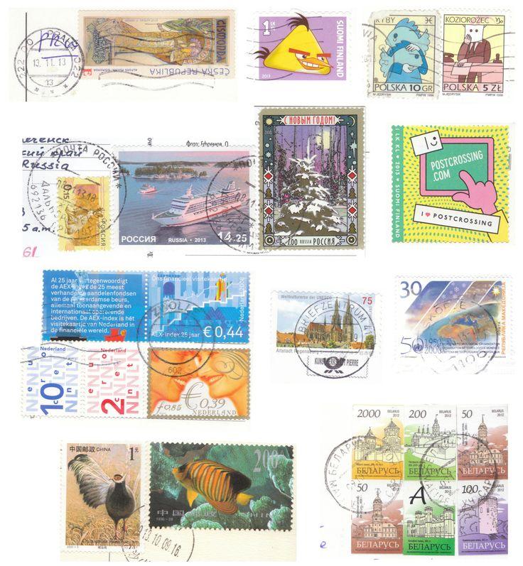 Petit montage des timbres reçus de ces différents pays !