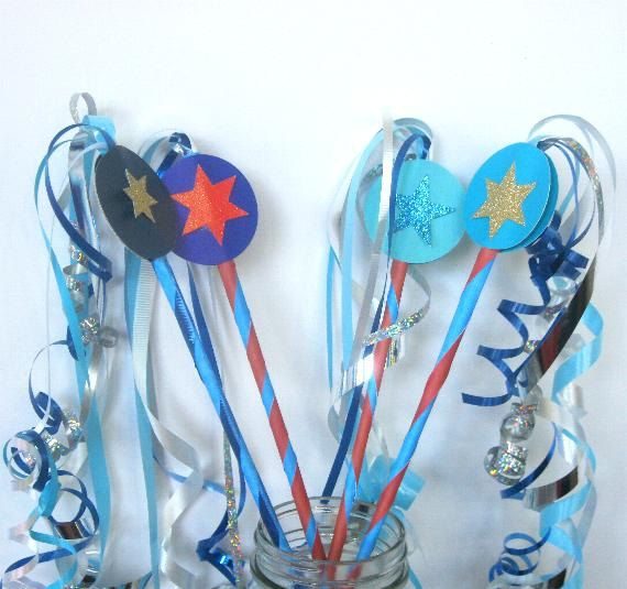 12+bithday+wands,+party+wands,+girls+party+wands,+birthday+favors,,+birthday+party+wand,+wedding+wands,flags,+bridal+wands,+ribbon+wands+by+SuspendedStar+on+Etsy