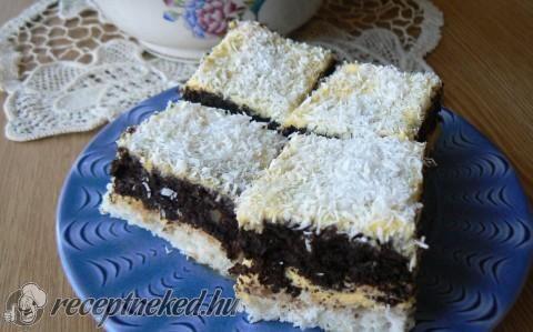Raffaello szelet recept fotóval