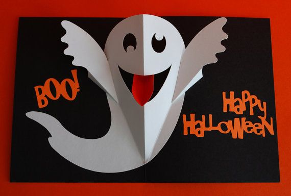 A sign hangs on a wood door warning card recipients to open at their own risk. Open the door, and a goofy ghost pops out and sticks out his tongue.    When folded, this card measures 5.5 by 4.25 inches. A white envelope is included.    Please allow for minor variances between cards since they are assembled by hand.    Cards are made using archival quality card stock paper.    This listing is just for one card. If youd like more than that, please send me a message and Ill set up a reserved…