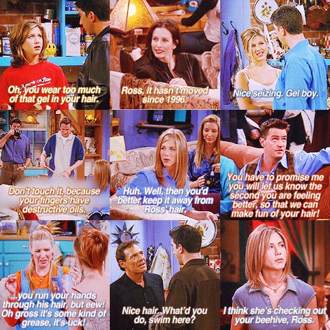 Ross's hair jokes