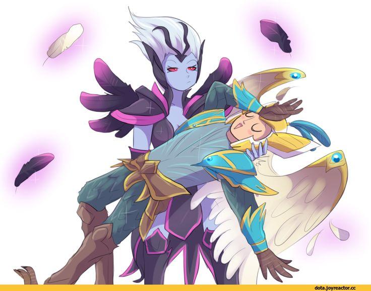 Shendelzare the Vengeful Spirit,Dota,фэндомы,Dragonus the Skywrath Mage,keterok,Dota Art