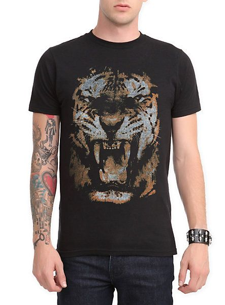 Tiger Roar Slim-Fit T-Shirt | Hot Topic
