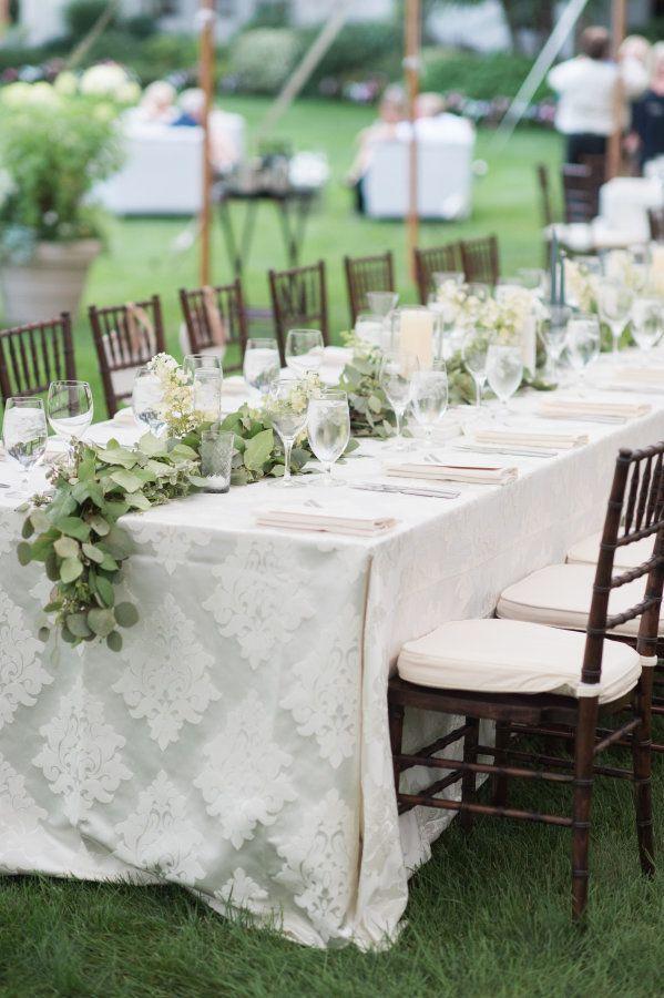 Outdoor wedding in Massachusetts: http://www.stylemepretty.com/2017/02/06/anything-but-boring-backyard-wedding-in-massachusetts/ Photography: Jenny Moloney - http://jennymoloney.com/