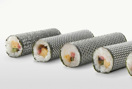 Designer MakiLasercut Nori, Japan Pattern, Cut Seaw, Fun Recipe, Laser Cut, Design Sushi, Sushi Rolls, Food Art, Design Nori