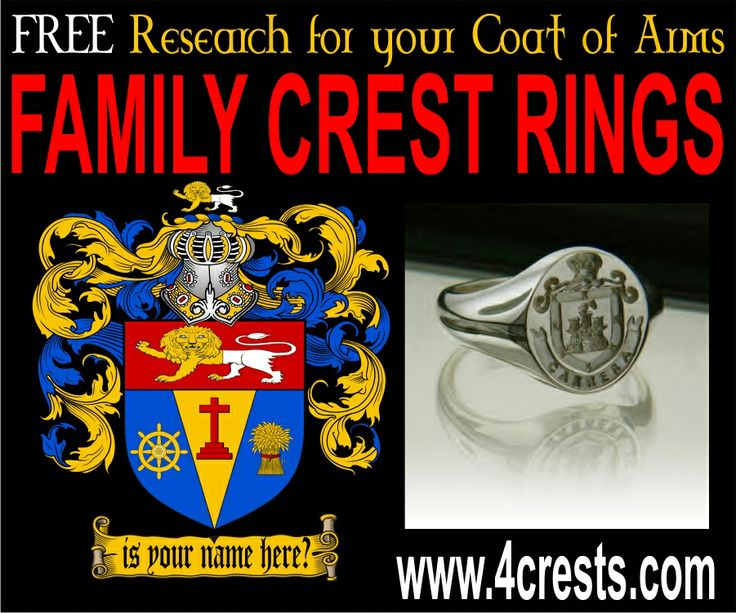 75 Best Images About Coat Of Arms Rings Family Crest