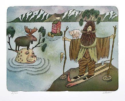 Adolf Born illustration Norway