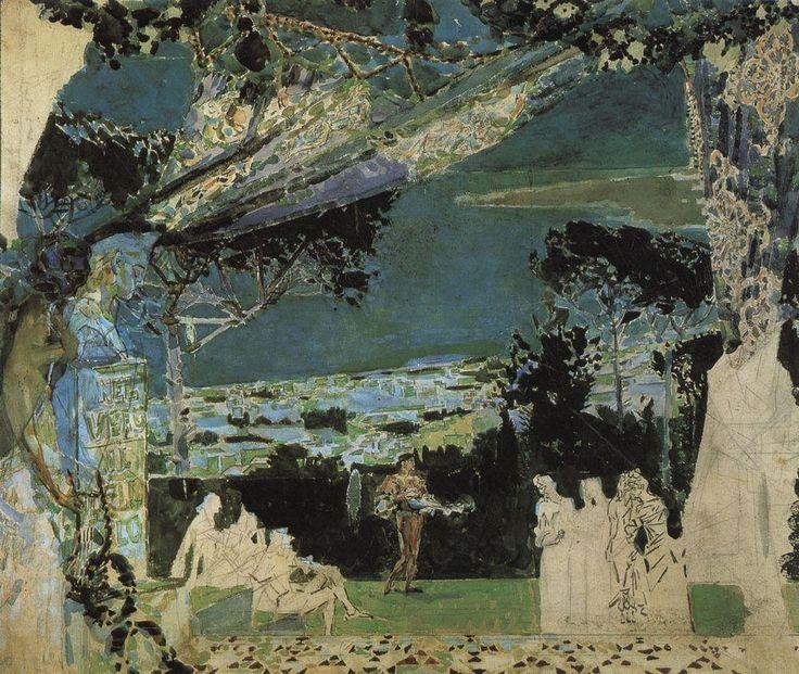 Михаил Врубель - Италия. Неаполитанская ночь. 1891