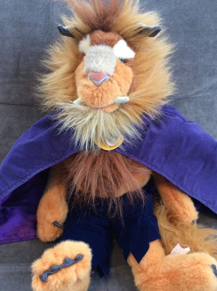 "Disney World Beauty and The Beast 15"" Plush Stuffed Purple Cape Park Resort | eBay"