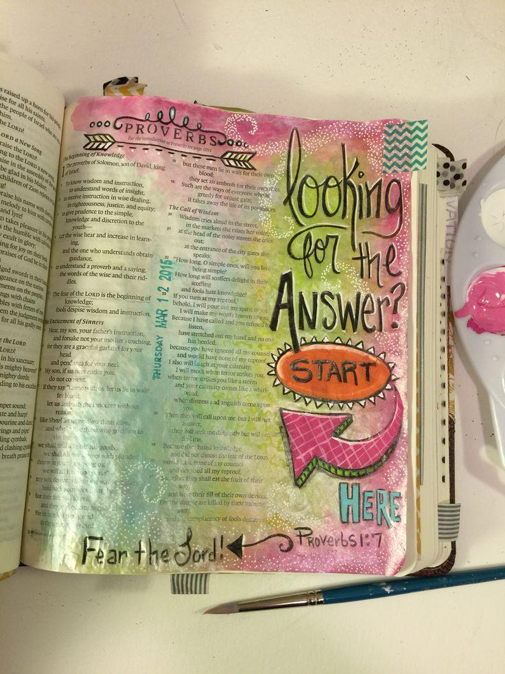 inspiration proverbs journaling bible