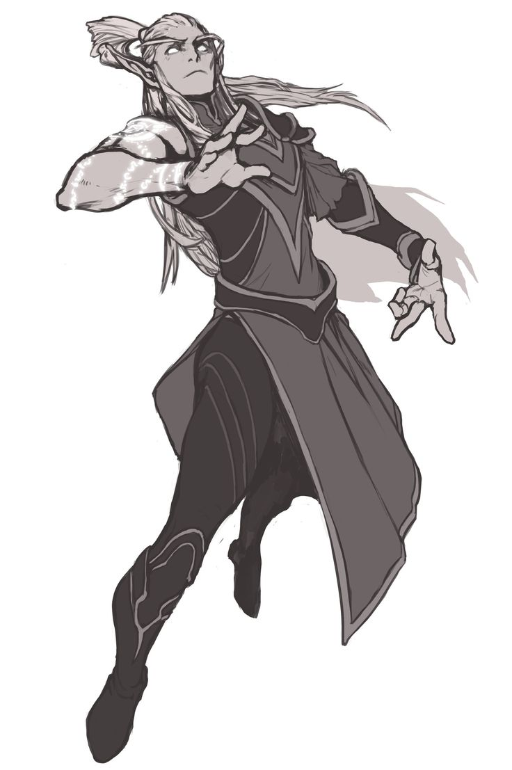 dynamic elf man by Penette- http://penett.deviantart.com/art/Tal-enthiel-for-Halduis-399054306