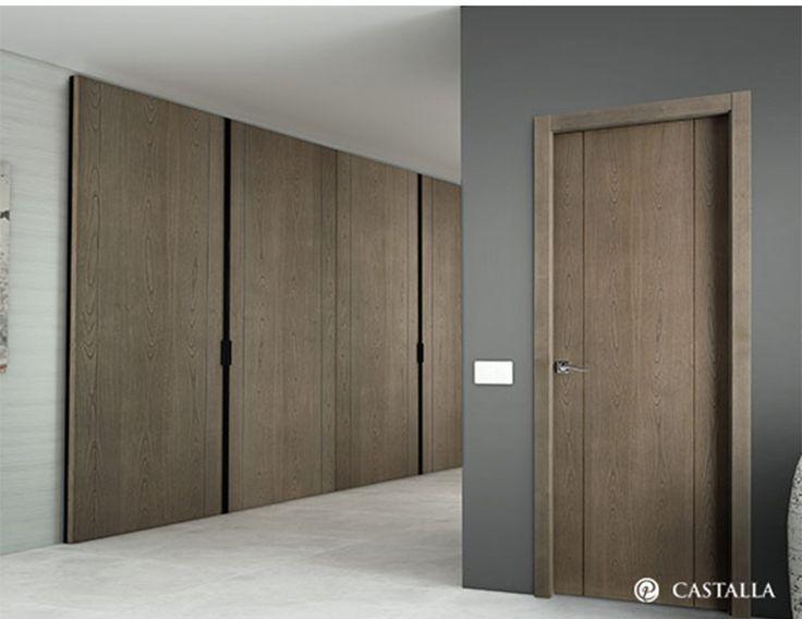 Las 25 mejores ideas sobre puertas de entrada dobles en for Puerta corredera interior madera