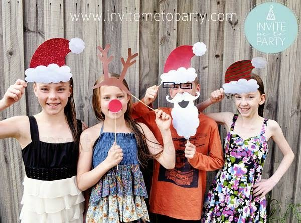 Invite Me To Party: Christmas Photo Booth Props