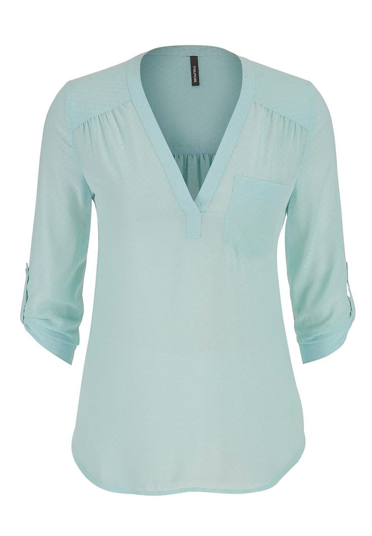 the perfect blouse with textured dot stitching in mint - #maurices