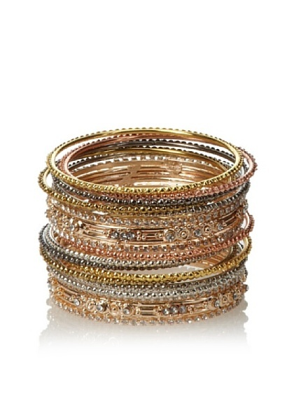 Chamak by Priya Kakkar Crystal and Mixed Metals Bangle Set, http://www.myhabit.com/ref=cm_sw_r_pi_mh_i?hash=page%3Dd%26dept%3Dwomen%26sale%3DA1YQHLTUP5F0MA%26asin%3DB0088ZRW14%26cAsin%3DB0088ZRW14: Priya Kakkar, Bangles Sets, Accessories Junki, Algemas De, De Paixão, Kakkar Crystals, Metals Bangles, Statement Pieces, Mixed Metals