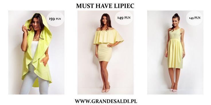 Rozpoczęły się wakacje, więc nie sposób oprzeć się letnim nastrojom. Na lipiec polecamy lekkie sukienki, bluzki, szorty wprost stworzone, by je zabrać z sobą na długo wyczekiwany urlop albo chociaż krótki weekendowy wypad.  http://www.grandesaldi.pl/elegancka-odcinana-sukienka http://www.grandesaldi.pl/pl/p/Romantyczna-sukienka/5979 http://www.grandesaldi.pl/stylowa-narzutka-bez-rekawow