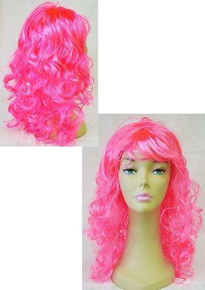 Парик локоны ярко-розовый 50 см